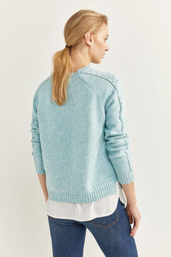Springfield Two-material Openwork Jumper violet