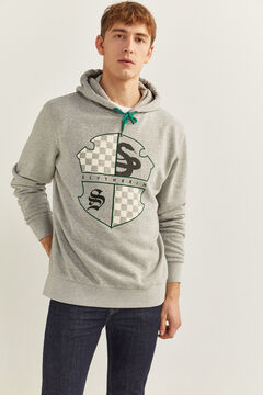 Springfield Slytherin Hooded Sweatshirt gray