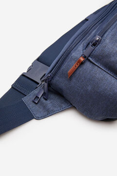Springfield Blue combination fabric bumbag blue