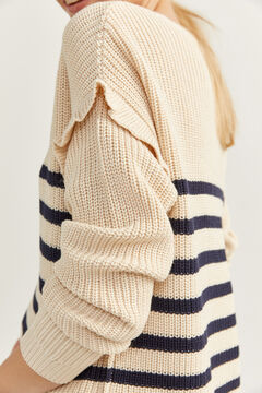 Springfield Flounced Nautical Stripes Jumper camel