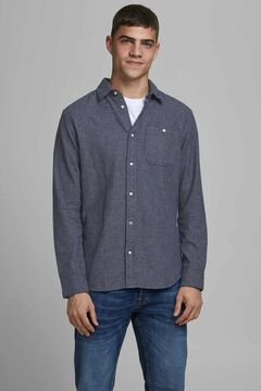 Springfield Sustainable printed shirt navy