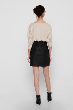Springfield Faux leather skirt black