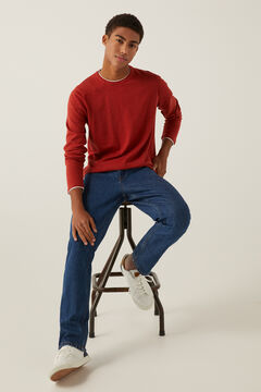 Springfield Linen cotton layered jumper bordeaux