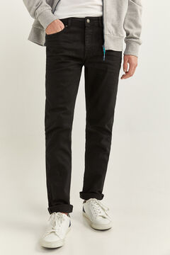 Springfield SKINNY FIT WASHED 5-POCKET COLOURED TROUSERS black