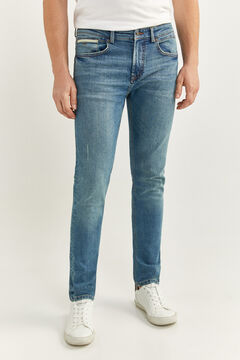 Springfield MEDIUM VINTAGE WASH SKINNY JEANS blue