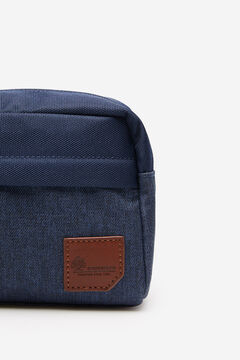 Springfield Blue combination fabric vanity case blue