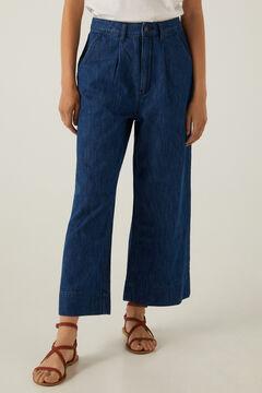 Springfield Lightweight culotte jeans blue