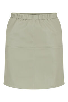 Springfield Short faux leather skirt gris