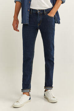 Springfield UNIFORM DARK WASH SLIM FIT JEANS blue