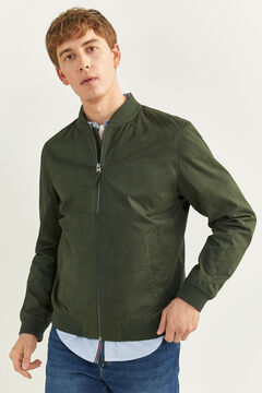 Springfield WATER-REPELLENT BOMBER JACKET dark green