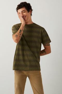 Springfield Ethnic print t-shirt green