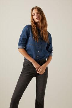 Springfield Sustainable wash kick flare jeans  black