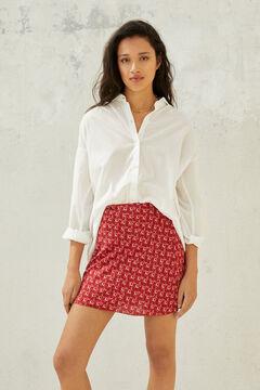 Springfield Plain oversize shirt white