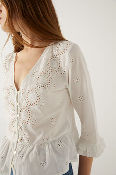Springfield Swiss embroidery blouse white