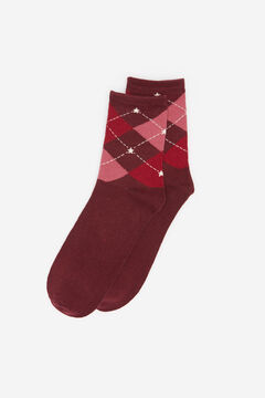 Springfield Diamond Socks deep red