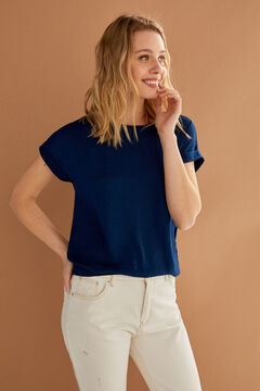 Springfield Plain roll-up sleeves t-shirt blue