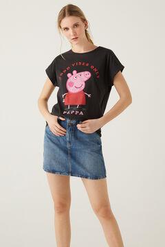 Springfield T-shirt « Peppa Pig  »  noir