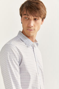 Springfield Slim fit printed shirt white