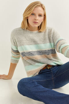 Springfield Colour Block Fur Jumper mallow