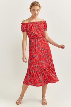 Springfield Long printed dress brick