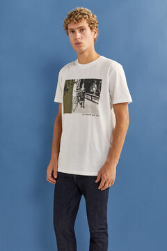 Springfield Photo print t-shirt white