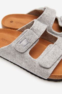 Springfield Felt slider slippers grey