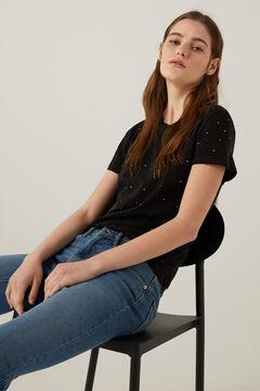 Springfield T-shirt clous cristal noir