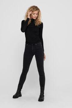 Springfield Polo neck top fekete