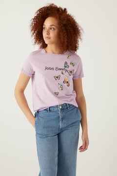 "Springfield Camiseta ""Inner beauty"" morado vivo"