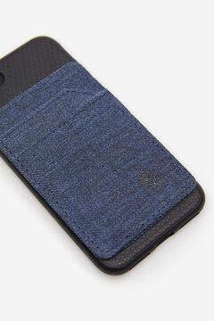 Springfield Tarjetero adhesivo para el móvil azul