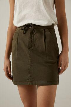 Springfield Falda chino lazo cintura verde bosque