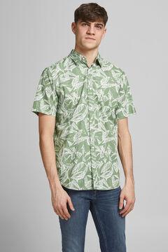 Springfield Camisa algodón manga corta verde