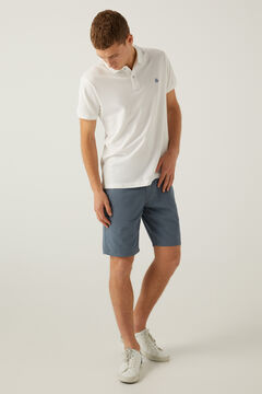 Springfield Micro print Bermuda shorts indigo blue