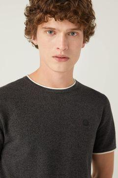 Springfield Mottled short-sleeved jumper black