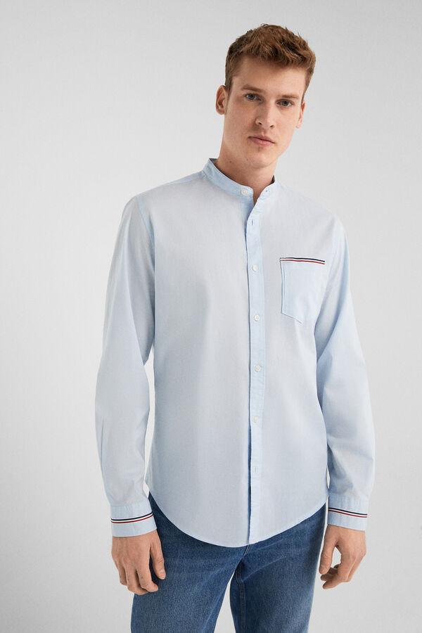 cce649e5ccfc Springfield Camisa popelín azul acero