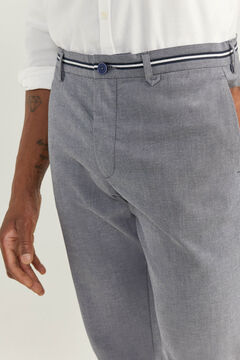 Springfield PANTALON CHINO STRUCTURÉ BICOLORE DAILY SMART gris