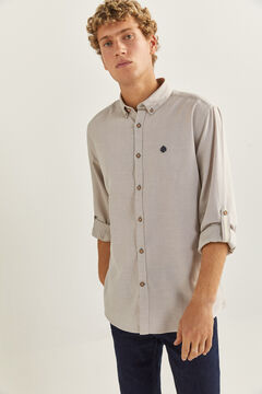 Springfield Textured shirt camel