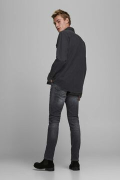 Springfield Sustainable denim shirt black