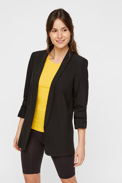 Springfield 3/4-length sleeves blazer noir