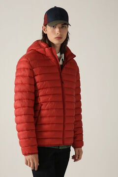Springfield Detachable hood quilted thermal jacket terracotta