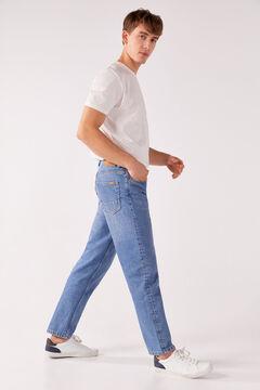 Springfield MEDIUM WASH WIDE LEG JEANS steel blue