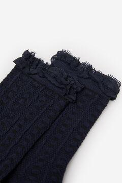 Springfield Lace Openwork Socks blue