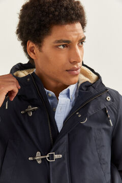 Springfield WATER-REPELLENT SHEEPSKIN PARKA blue