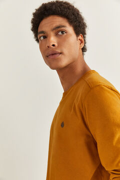 Springfield ESSENTIAL LONG-SLEEVED T-SHIRT golden