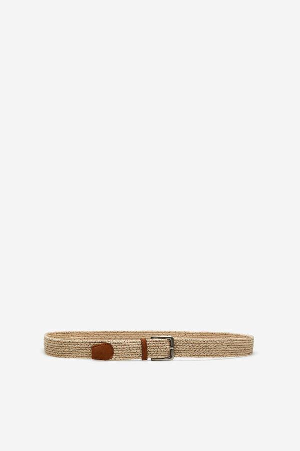 Springfield Cinturón crudo trenzado marrón 32e6b1867c85