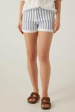 Springfield Short jean rayures gris