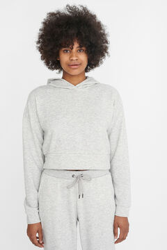 Springfield Crop hooded sweatshirt gray