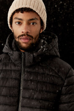 Springfield QUILTED HOODED JACKET black