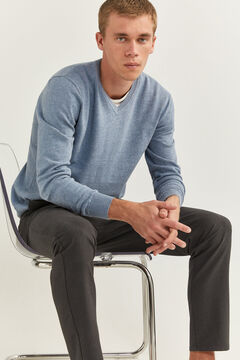 Springfield V-NECK JUMPER steel blue
