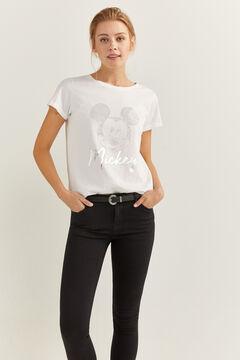 """Springfield T-Shirt """"Mickey"""" weiß"""